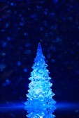 Toy Christmas tree background — Stock Photo