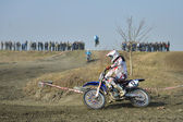 Motocross competition in Vladikavkaz, North Ossetia, Russia — Stock Photo
