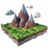 Illustration of mountain — Stock Photo