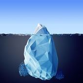 Illustration of the iceberg — Stock Photo