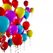 3d colorful  balloons — Stock Photo
