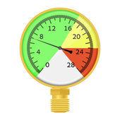 Gold manometer 02 — Stock Vector