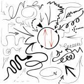 Doodle arrows 01 — Stockvector