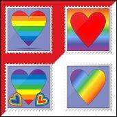 Gay postage stamps — Stockvektor