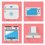 Постер, плакат: Kitchen appliances flat icon