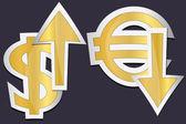 Euro and dolar — Stock Vector
