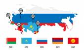 Eurasian Economic Union 3 — Stock Vector
