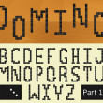 Domino alphabet 1.1 — Stock Vector #68436681