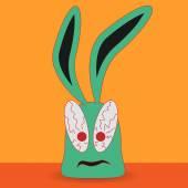 Conejo borracho — Vector de stock