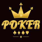 Gold poker logo 02 — Stock Vector