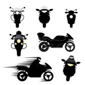 Silhouettes of motorcycles — Stock Vector