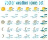 Иконки погоды 02 — Cтоковый вектор