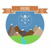 Hiking — Stock Vector