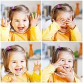 Cute girl is laughing — Stock Photo