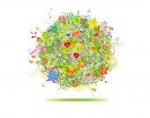 Renkli çiçek topu — Stok fotoğraf