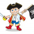 Постер, плакат: Funny little pirate kid
