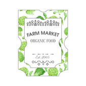 Farm market label — Stock Vector