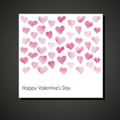 Valentine days card — Stock Vector