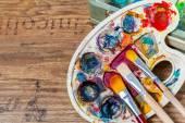 Art school supplies — Stock Photo