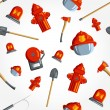 Постер, плакат: Seamless pattern for fire fighting equipment