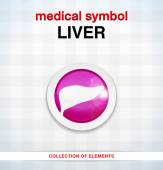 Medical icon liver — Stock Vector