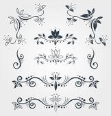 Calligraphy decorative elements — ストックベクタ