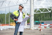 Civil Engineer At Construction Site — Stock Photo