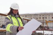 Civil Engineer At Consruction Site — Foto Stock
