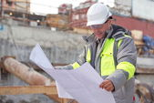 Civil Engineer At Consruction Site — Stock Photo