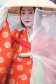 Japanese girl dressed as Maiko — Stock Photo