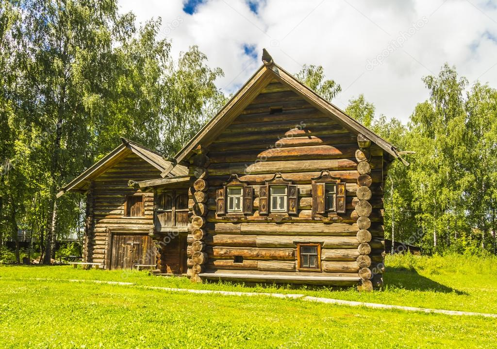 Arquitectura de madera choza siglo xviii sloboda for Arquitectura de madera