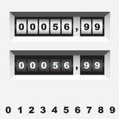 Gas meter — Stock Vector