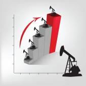 Petroleum graph — Wektor stockowy