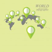 Dünya Infographic — Stok Vektör