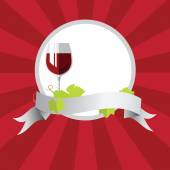 Red wine — Stock Vector
