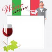 意大利葡萄酒 — 图库矢量图片