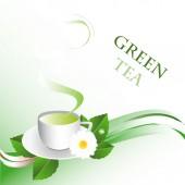 Hot tea — Stock Vector