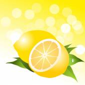 Lemon background — Stock Vector