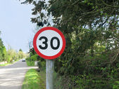 30 mph Road Sign — Stock Photo