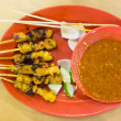 Grilled chicken satay sticks — Stock Photo #62567425