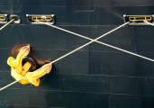 Ships Anchor and mooring ropes — Stock Photo