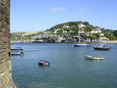 Yachts on the River Dart — Stock Photo