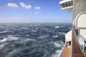 Rough Seas from a Cruise Ship Balcony — ストック写真