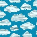 Cloudy sky seamless texture — Stock Vector #66596683
