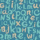 Endless doodle alphabet pattern — Stock Vector