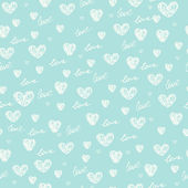 Endless blue romantic simple pattern — Stock Vector