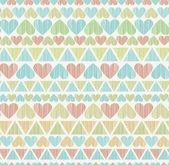 Decorative colorful seamless romantic texture — Vetor de Stock