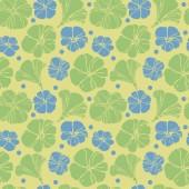 シームレスなレトロな夏花柄 — ストックベクタ