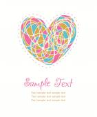 Hand drawn cute heart and sample text — Stock Vector