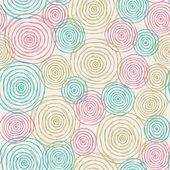 Doodle seamless texture with circles — Stockvektor